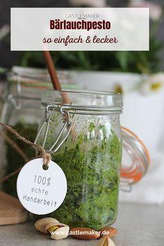 Super leckeres Bärlauchpesto Rezept auf Castlemaker.de Foodblogger, Super, Mason Jars, Snacks, Mugs, Tableware, Drinks, Photography, Chef Recipes