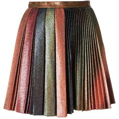 Marco De Vincenzo sparkly pleated skirt (2.030 BRL) ❤ liked on Polyvore featuring skirts, bottoms, saias, faldas, multicolour, sparkle skirts, colorful skirts, knee length pleated skirt, pleated skirt and multi colored skirt