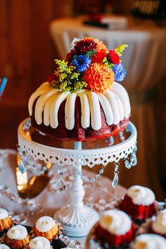 Nothing Bundt Cake Wedding Cake Cakes for Any Occasion From A Local Bakery Ve - - Photos of Net Gorgeous Cakes, Amazing Cakes, Wedding Cakes With Flowers, Cake Wedding, Cake Flowers, Luau Cakes, Nothing Bundt Cakes, Pinterest Cake, Number Cakes
