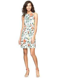 Gap Floral Sateen Dress
