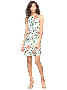 Gap Floral Sateen Dress