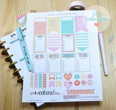 Sherbert 2 Planner Stickers – Free Printable