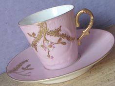 Antique 1890's Haviland Limoges Teacup and Saucer by ShoponSherman