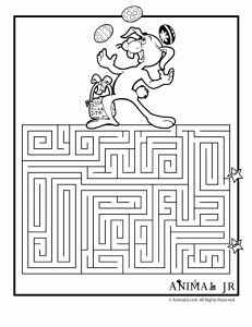 Easter Is Only A Couple Weeks Away So Here Are Some Mazes To Print And Color