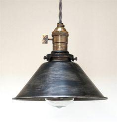 Vintage Antique Retro Style Industrial Pendant Light - Hanging Edison Swag Lamp…