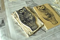 Carve your own rubber stamps,it's a hoot!!!.... - Jennifer Rizzo