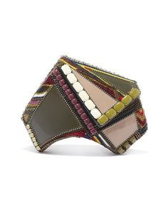 Oshima Clutch Bag. Leather and Crystal Beads. Bea Valdes.