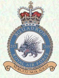 #215 Squadron formed as a night bomber squadron in World War I and again in World War II, becoming a transport squadron near the end of the Second World War.