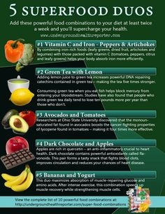 5 superfood duos for healthy eating