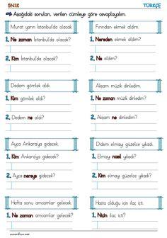 Learn Turkish Language, Child Development, Reading Comprehension, Mathematics, Preschool, Learning, Words, Events, Primary School