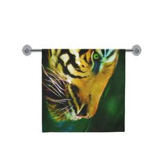 "Tiger bath towel, 30"" x 56"" bath towel, animal printed towel, wildlife towel, printed towel, international free shipping, artist designed by Traceyleeartdesigns on Etsy Art Designs, Bath Towels, Wildlife, Free Shipping, Printed, Unique Jewelry, Handmade Gifts, Artist, Animals"