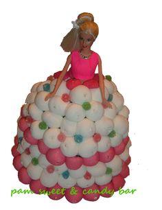 Vestido de Barbie - Tarta de gominolas