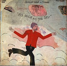 Joseph War & Friend  As High as the Sky, (Decision Records), 1972  mixed media and cardboard, 12 ¾ x 12 ¼ in.  Smithsonian American Art Museum
