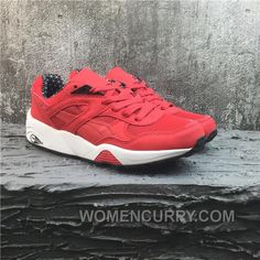 Puma R698 Classic Vintage Running Shoes Red White 4674c44c7
