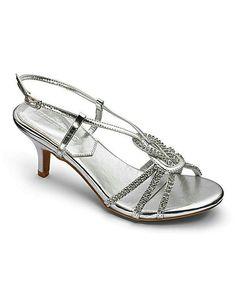 abbd4cd8e7d Heavenly Soles Diamante Sandals EEE Fit Evening Sandals