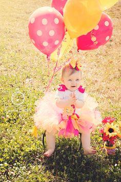 My SunshineBaby Girl 1st Birthday Tutu Set by ChristiCreations 63.00