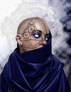"""Seer"" by Dyslexick on DeviantArt (fantasy art, demons). Fantasy Portraits, Character Portraits, Character Art, Fantasy Rpg, Medieval Fantasy, Dark Fantasy, Dnd Characters, Fantasy Characters, Female Characters"