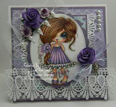 All About Purple Handmade OOAK Card by thehoosierstamper, $12.95 USD