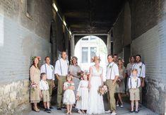 wedding party (http://greenweddingshoes.com/handmade-canadian-farm-wedding-melanie-brian/)