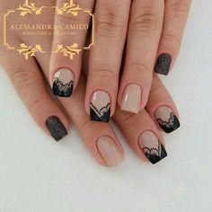 Unhas da @cst.livia Alaia, Cute Nails, Nailart, Nail Polish, Irene, Beauty, Dark Nails, Nails Plus, Nail Arts