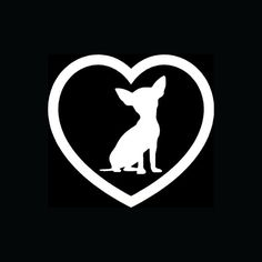 FREE SHIPPING in Usa Chiguagua love vinyl decal by deannebarreto, $4.00