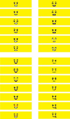 Several face expression with small differences to have a large mixture of expressions. More will follow. I will also make them for transparent decal paper w...