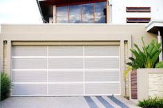 Steel-Line Louvre garage door - Its ability to provide privacy  for what is inside and still allow approximately 22% ventilation make it the door of choice on many modern developments.