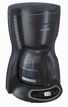 CAFETERA PROGRAMABLE 4031 Negra  Potencia 1000 W.  Capacidad / Contenido Para 10 tazas.  Dimensiones 235 x 354 x 265 mm   Nº EAN 4008146403101  Soporte del filtro giratorio extraíble 1 x 4 con válvula anti-goteo.  Indicador del nivel del agua.  Placa de mantenimiento en caliente.  Luz piloto.  Reloj digital con función de temporizador para activar el proceso de elaboración del café.  Marcas indicadoras del nivel de agua en la jarra de cristal.  Espacio guardacable.  Embalaje de 4 unidades.