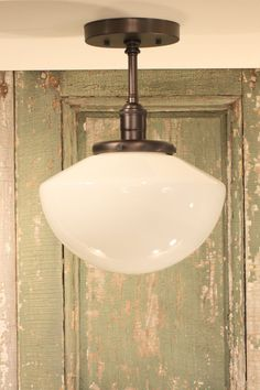 Pendant Light with Opal Simple Taper Globe Style Shade