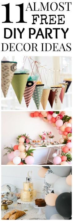 DIY Party Decor Ideas for your next party. Here you have some cheap ways that you can do by yourself, just by taking  trip to the dollar store.