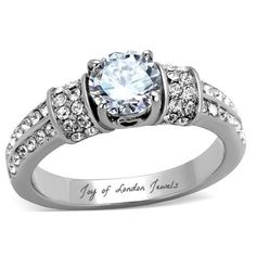 A Perfect Vintage 1.1CT Round Cut Solitaire Russian Lab Diamond Engagement Ring