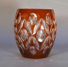 Vase en Cristal rouge de Val Saint Lambert 17,5 cm
