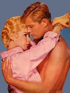 Troy Donahue and Sandra Dee - Summer Place 1959.  I saw this with my big sister in the theater in Selma in 1959.  That means I must have been 8 and my little sister was 5.  It was considered pretty steamy at the time.