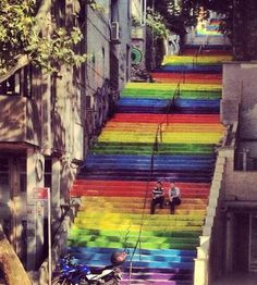Rainbow Stairs of Istanbul