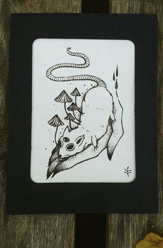 #draw  #blackart #fairyart   #cordulia #line #fineline #draw  #organic #plants #fae #faery #mushroom #rat