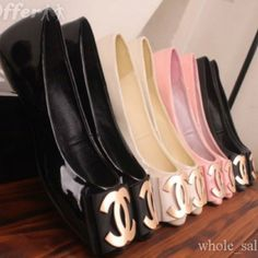 Chanel flats in every color!