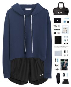 """""""AT HOME, SICK"""" by c-hristinep ❤ liked on Polyvore featuring NIKE, MANGO, Christy, OXO, Dr. Denese, adidas, Aesop, NARS Cosmetics, Cellex-C and Ray-Ban"""