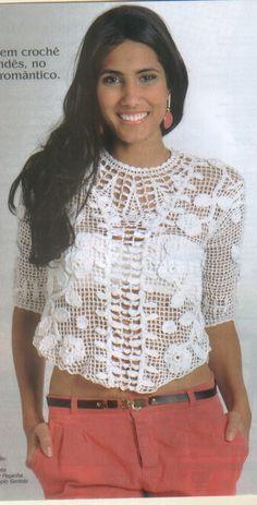 Mania de Tricotar: Blusas de crochê  https://mania-de-tricotar.blogspot.com.br/search/label/Blusas%20de%20croch%C3%AA?updated-max=2013-06-04T13:25:00-03:00&max-results=20&start=45&by-date=false