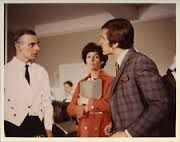 Department S - 'Spencer Bodily Is Sixty Years Old' - Stewart (Joel Fabiani) and Annabelle (Rosemary Nicols) interrogate the waiter at the hotel