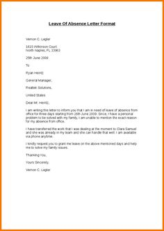 Templates leave of absence letter templates hunter leave of leave absence college letter format write absent school for holiday the spiritdancerdesigns Choice Image