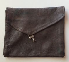 SALE! Leonora handmade leather clutch, upcycled leather, Mother's Day Gifts