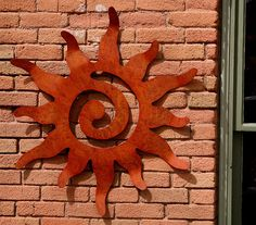Metal Art Sun Wall Hanging, 36 inch size, Garden Wall art