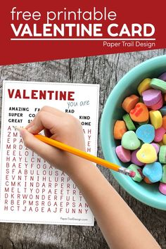 The perfect easy DIY kids valentine cards. Print our Valentine's day word search cards for kids to give to their friends on Valentine's day. #wordsearch