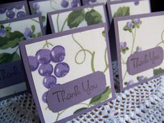 Mini Cards Mini Thank You Notes  Set of 8 by EllieMarieDesigns ON ETSY.