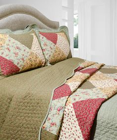 Look what I found on #zulily! Oakridge Vintage Collection Reversible Quilt Set #zulilyfinds