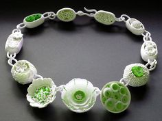 A weekend of polymer clay workshops with internationally acclaimed artist Maggie Maggio and Angela Garrod. Polymer Clay Kunst, Polymer Clay Projects, Polymer Clay Creations, Polymer Clay Necklace, Polymer Clay Beads, Ceramic Beads, Jewelry Art, Jewelry Design, Jewellery
