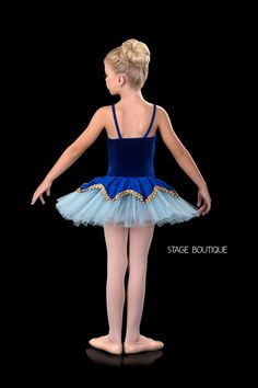 BALLET TUTU - PETAL, $69, Royal Blue Velvet Ballet Tutu, Classical Dance Costume, Stage Boutique, www.stageboutique.com