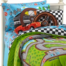 Love the comforter. My brother and I used quilts on the bed as our roads for our Hot Wheels.