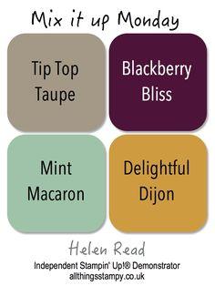 Tip Top Taupe, Blackberry Bliss, Mint Macaron, Delightful Dijon