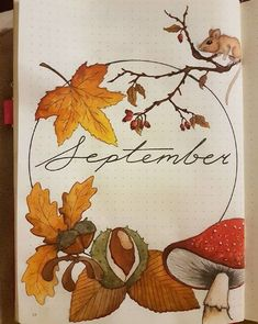 40 September Bullet Journal Cover Pages to Inspire You It's time to start planning our September Bullet Journal pages! From cute hedgehogs to hot air balloons there's a cover page here to inspire you! Bullet Journal Cover Page, Bullet Journal 2019, Bullet Journal Notebook, Bullet Journal Ideas Pages, Journal Covers, Bullet Journal Inspiration, Journal Pages, Bullet Journal September Cover, Bullet Journal Weekly Spread Layout